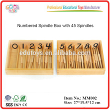 Montessori material Spindles, Box of 45
