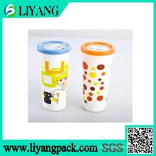 Imprimindo a garrafa de água longa, filme de transferência térmica para o copo plástico