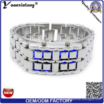 Yxl-146 Prolmotional Men′s Lava LED Watch, Men Women Binary Watches, Good Quality Stainless Steel Metal Watch Womens Factory