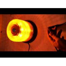 Advertencia de emergencia intermitente, luz amarilla, policía, lámpara, luz estroboscópica, ámbar, led, faro impermeable, con magnético