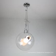 Nordic pendant light Antique Glass Ball Hanging Chandeliers Linear pendant chandelier