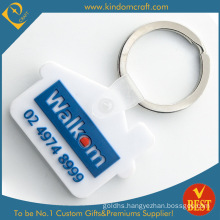 Fashion House Shape Design PVC Keychain for Advertising