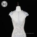 Eco-friendly custom luxury dubai 3d flower wedding dress mermaid