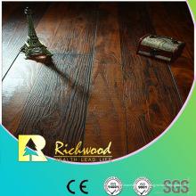 12.3mm AC4 Hand geschabter Kirsch V-gerillter lamellenförmig angeordneter Bodenbelag