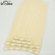 Light Blonde 120G clip humano en la extensión del pelo