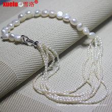 Art und Weise kultivierte Frischwasser barocke Perlen-Halskette für Frauen