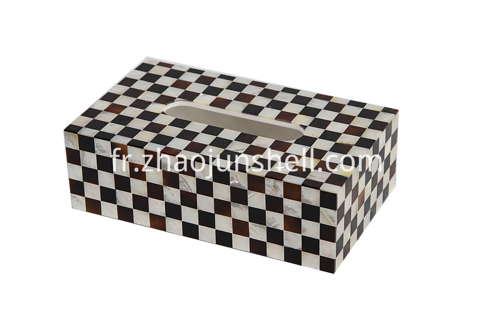 mother of pearl tissue box