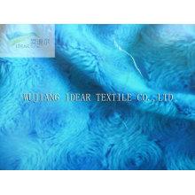 100% poliéster tecido de Velboa para cobertor, brinquedo