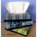 gros pas cher boîte plate grand pack tissu facial
