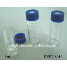 Botella cromatográfica de 4 ml, vial del inyector automático