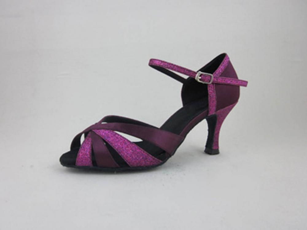 3 5 Inch Heel Purple Salsa Shoes Womens