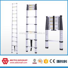 escaleras telescópicas portátiles de aluminio (2 m / 2.6 m / 2.9 m / 3.2 m / 3.8 m) escalera plegable de EN131