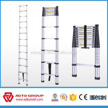 aluminum portable telescopic ladders(2m/2.6m/2.9m/3.2m/3.8m) EN131 quick folding ladder