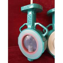 Double Shaft Butterfly Valve with PTFE Lined Disc