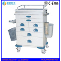 China fabricante Fuente ABS Multi-Function Hospital Trolley
