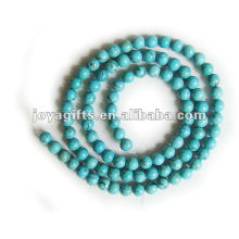 4MM Round Turquoise Stone Beads