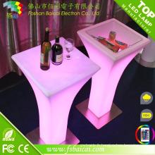 Table acrylique LED Cocktail Bar Table / Bar Cocktail avec 16 couleurs Changement de lumière LED