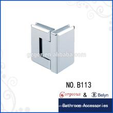 Brass 90 degree glass hinge soft close glass door hinge