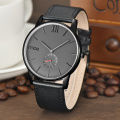 Minimalist classic Steel Case men watch