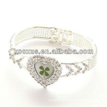 Lucky bingo four leaf clover bracelet/bangle