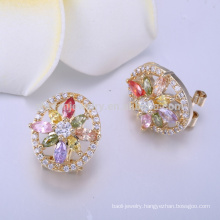 Wholesale earring stud new designs gold jhumka earring
