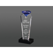 Blue crystal diamond award