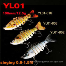 7 Segments Hard Fishing Lure Singing Swimbait