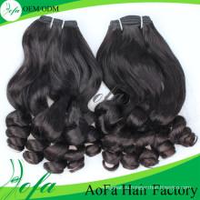Полное дно Fummi Индийский weave человеческих волос Виргинский вьющиеся