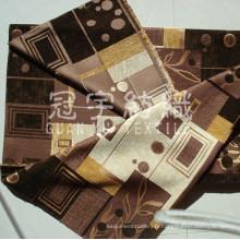 Tissu pour canapé de teint fil polyester Jacquard Chenille