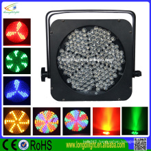 power wireless dmx 144 leds 10mm RGBA flat par light/ mini par can wireless led par can