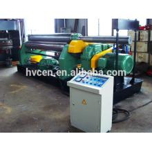 Máquina de doblado de cono de 3 rodillos W11F-4 * 2000 / nc 650