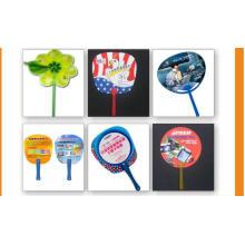 La publicité cadeaux promotionnels tenus à la main ventilateur pas cher en plastique PP Fan