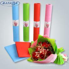 tela de envoltura de flores frescas de embalaje no tejido en relieve