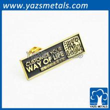 design quente de ouro com emblema de botão de metal