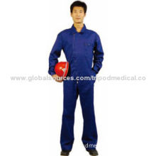 Coverall with pockets, brass zipper