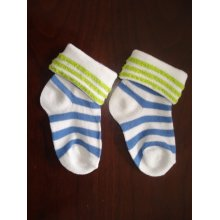 Turn Cuff Cute Baby Cotton Socks Custom Designs for Wholesale