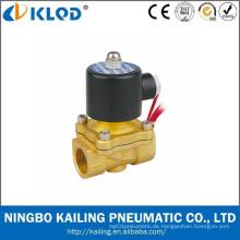 Niedriger Preis Messing Luft Gas Wasser Öl Magnetventil 220 V AC