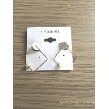 Simple Geometric Earrings with Metal Fashion Jewelry