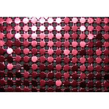 Tissu de table à lentille métallique mousseux à la mode