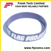 Alta Qualidade Personalizado Debossed / Embssed / Print Wristband Silicone