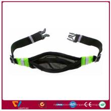 Reflective water resist polyester running waist pack bag running belt for phone sport bag for safety