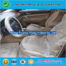 LDPE ivory plastic 15micron disposal automobile Seat Covers in roll
