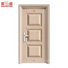 Высокий уровень безопасности стальные двери нержавеющей стали одиночная конструкция двери межкомнатные стальные двери для дома
