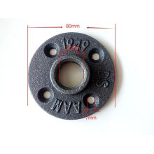 Antique black metal threaded flanges for furniture