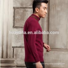 Pull 100% cachemire tricoté pour homme