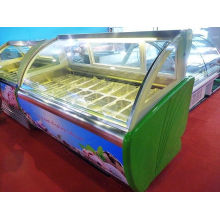 18 Trays R404a Green Commercial Ice Cream Display Freezer For Shop