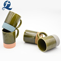 Taza de cerámica coloreada de la taza de café de la marca de los fabricantes de China