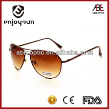 fashion and popular brown color metal sunglasses