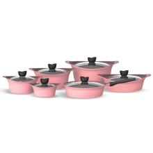 Diseño de moda pan de fritura de inducción antiadherente con revestimiento de cerámica