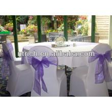Chair decoration tie organza sash for wedding